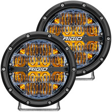 Rigid 360-Series 6in LED Off-Road Drive Beam W/ Amber Backlight - 36206