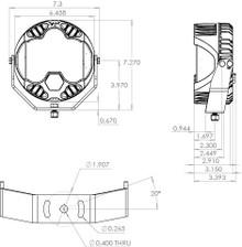 Baja Designs 270013 LP6 Pro Amber Driving Combo Round LED Light