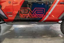 DV8 SRJL-02 Tubular Rock Slider Steps For Jeep JL