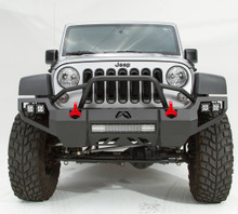 Fab Fours Vengeance With Guard Front Bumper For 07-18 Jeep Wrangler JK - JK07-D1852-1