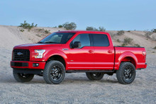 """Fabtech 4"""" Basic Lift Kit With Rear Performance Shocks For 15-20 Ford F-150 - K2193"""