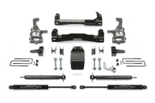 "Fabtech 4"" Basic Lift Kit With Rear Stealth Shocks For 15-20 Ford F-150 - K2193M"