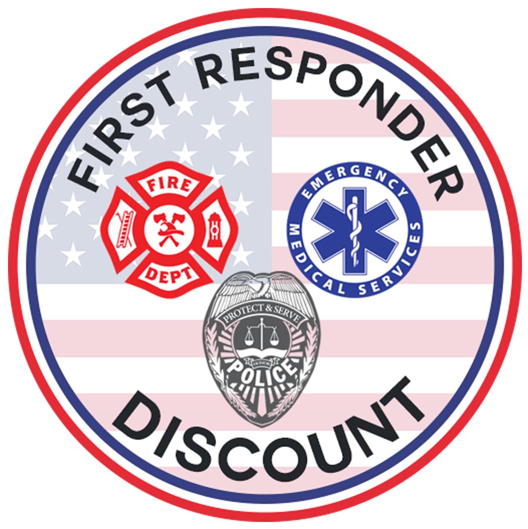 We Honor First Responders Discounts
