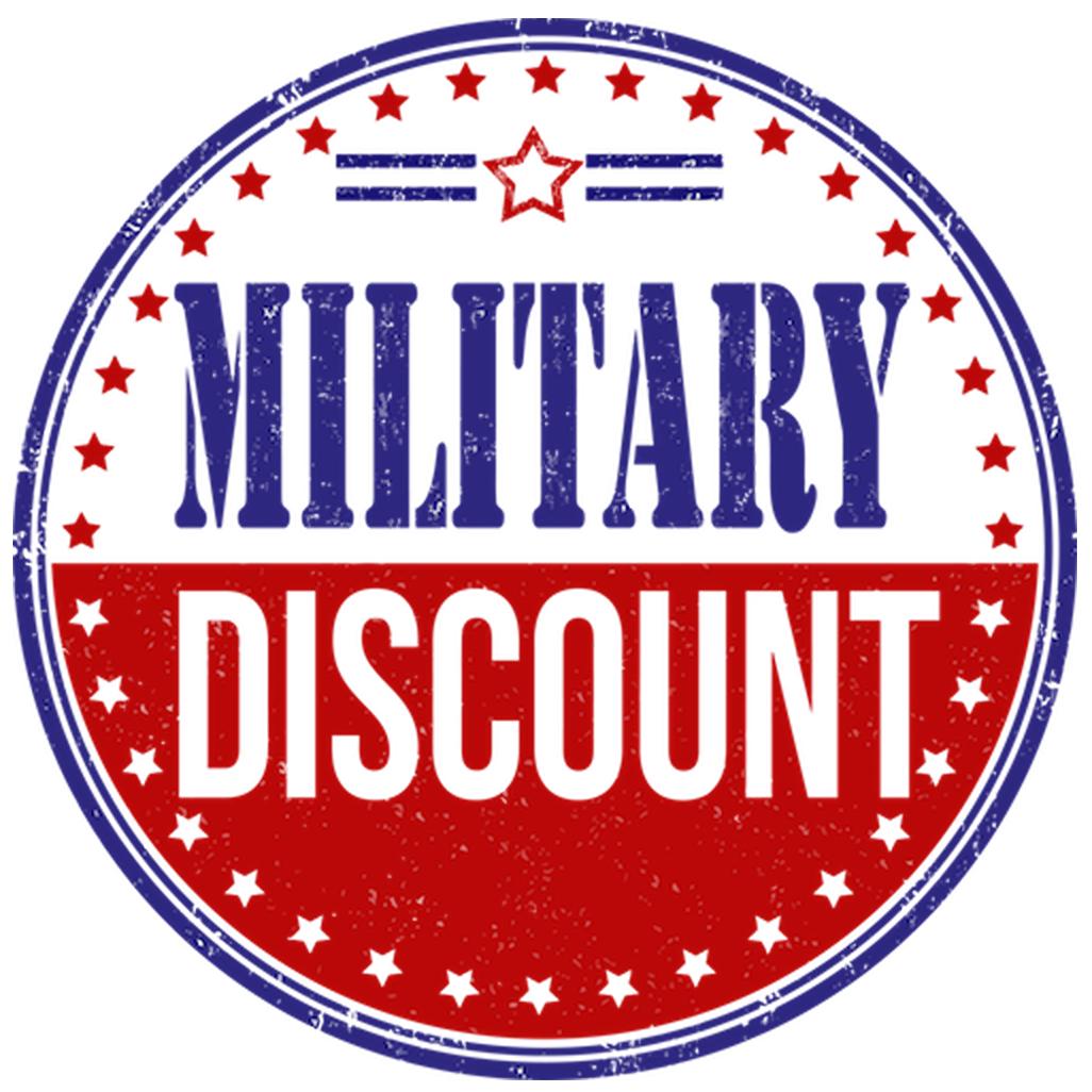 We Honor Military Discounts