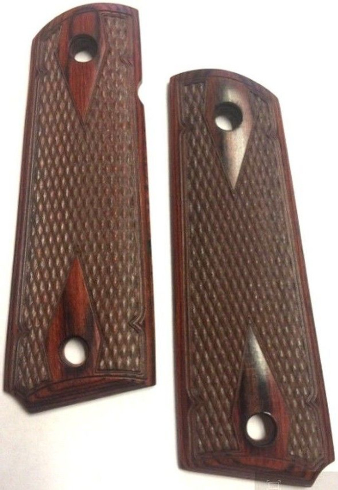 GG1911RWDD 1911 Full Size Double Diamond Checkered Rosewood Grips