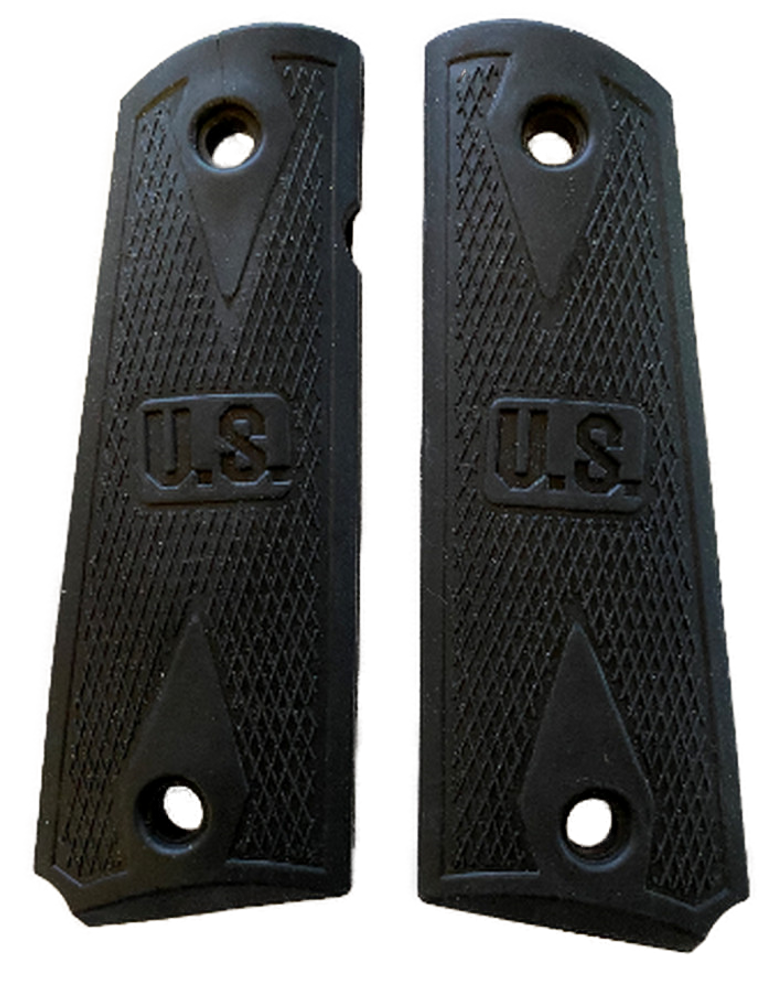 1911 Colt Full Size Rubber Competition Grips w/US Embossed