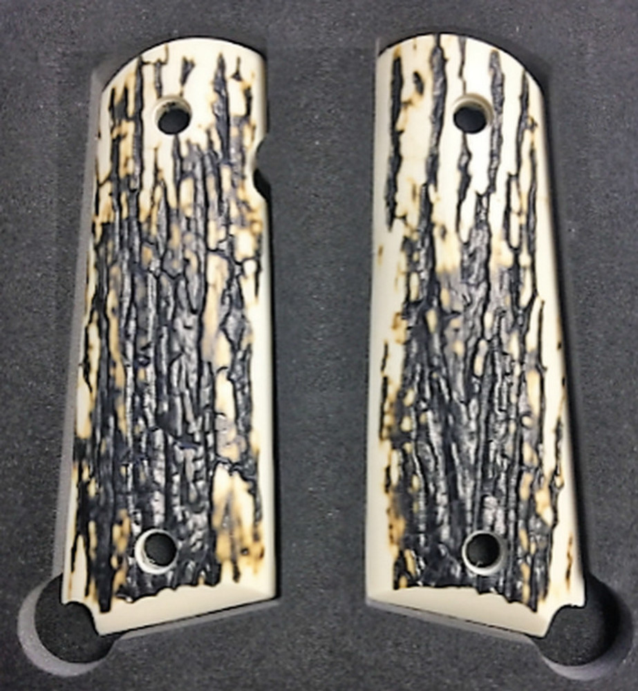 "1911 Gun Grips Acrylic ""Faux"" Mammoth Bark"