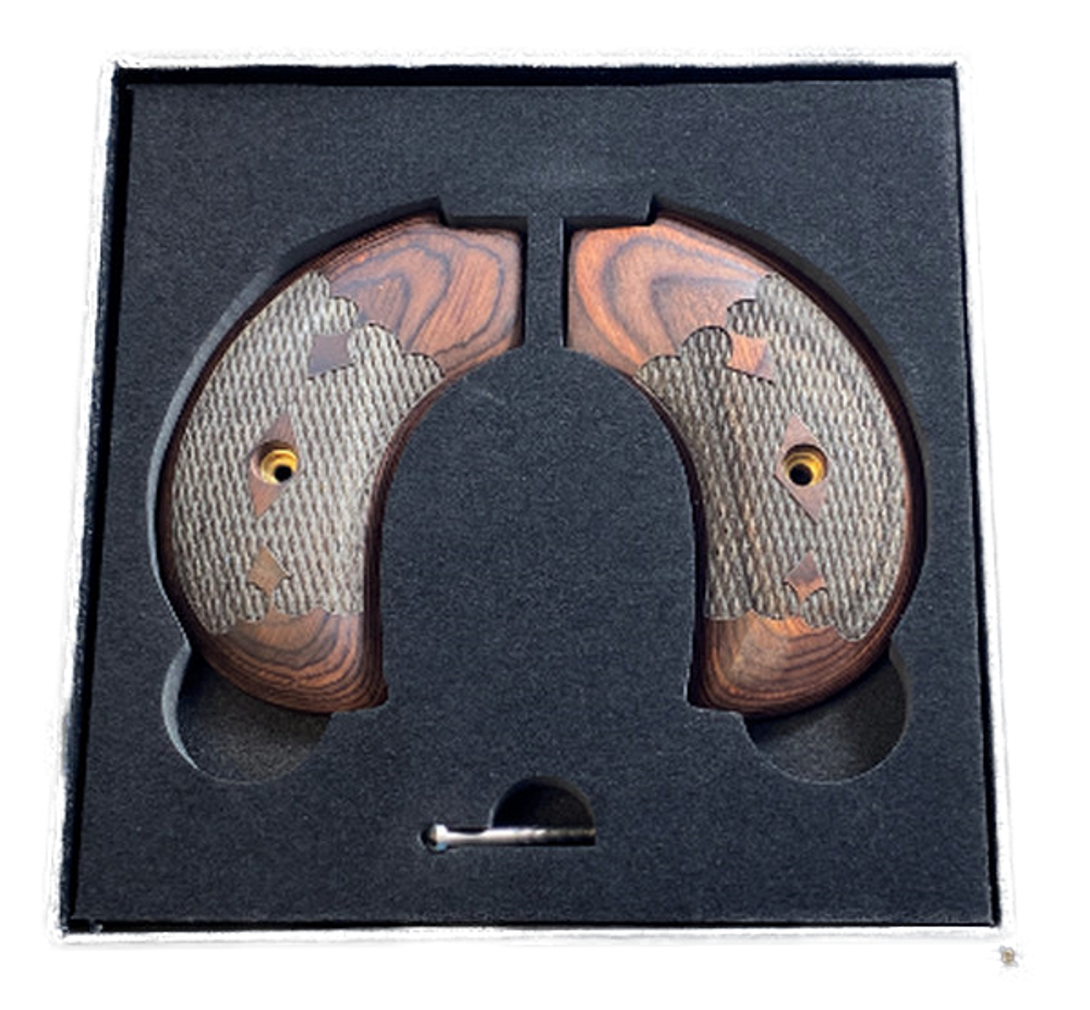 The Rosewood Bird's Head Version Heritage Arms Rough Rider 6 & 9 Shot Grips (.22 &.22 Mag)