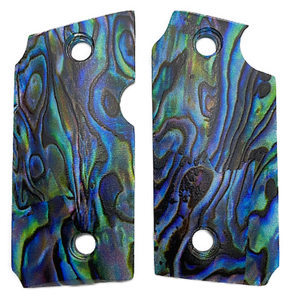 SIG SAUER P238 Custom UV Printed Paua Abalone Grips