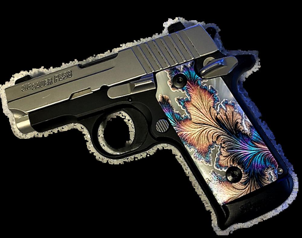 SIG SAUER P238 Custom UV Printed Floral Print Grips