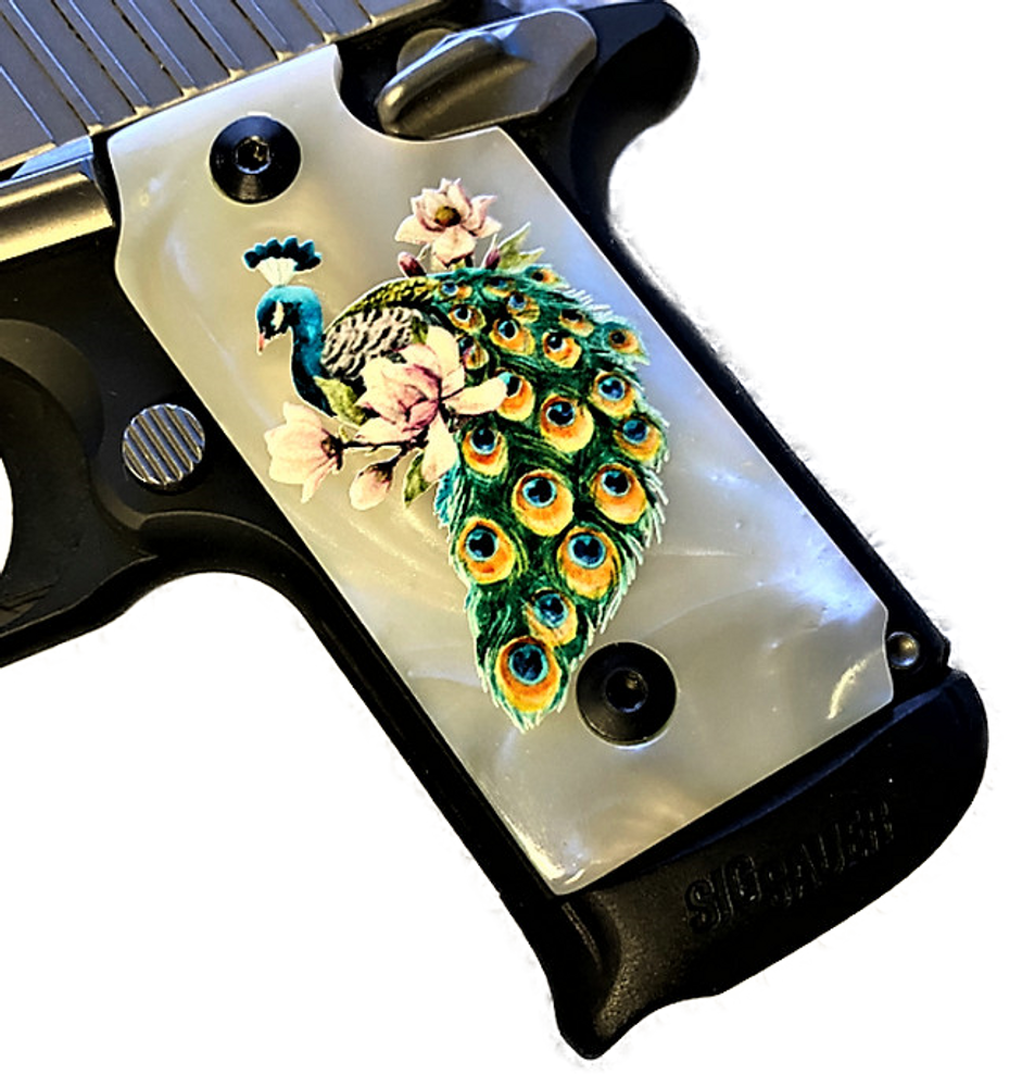 P238 HD/UV Full color Mother of Pearl stunning Peacock