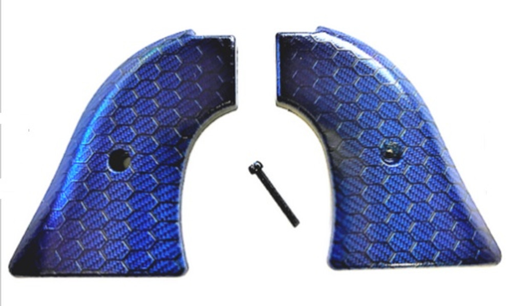 Fits Heritage Arms Rough Rider GRIPS .22 & .22 MAG Blue Hex HD/UV