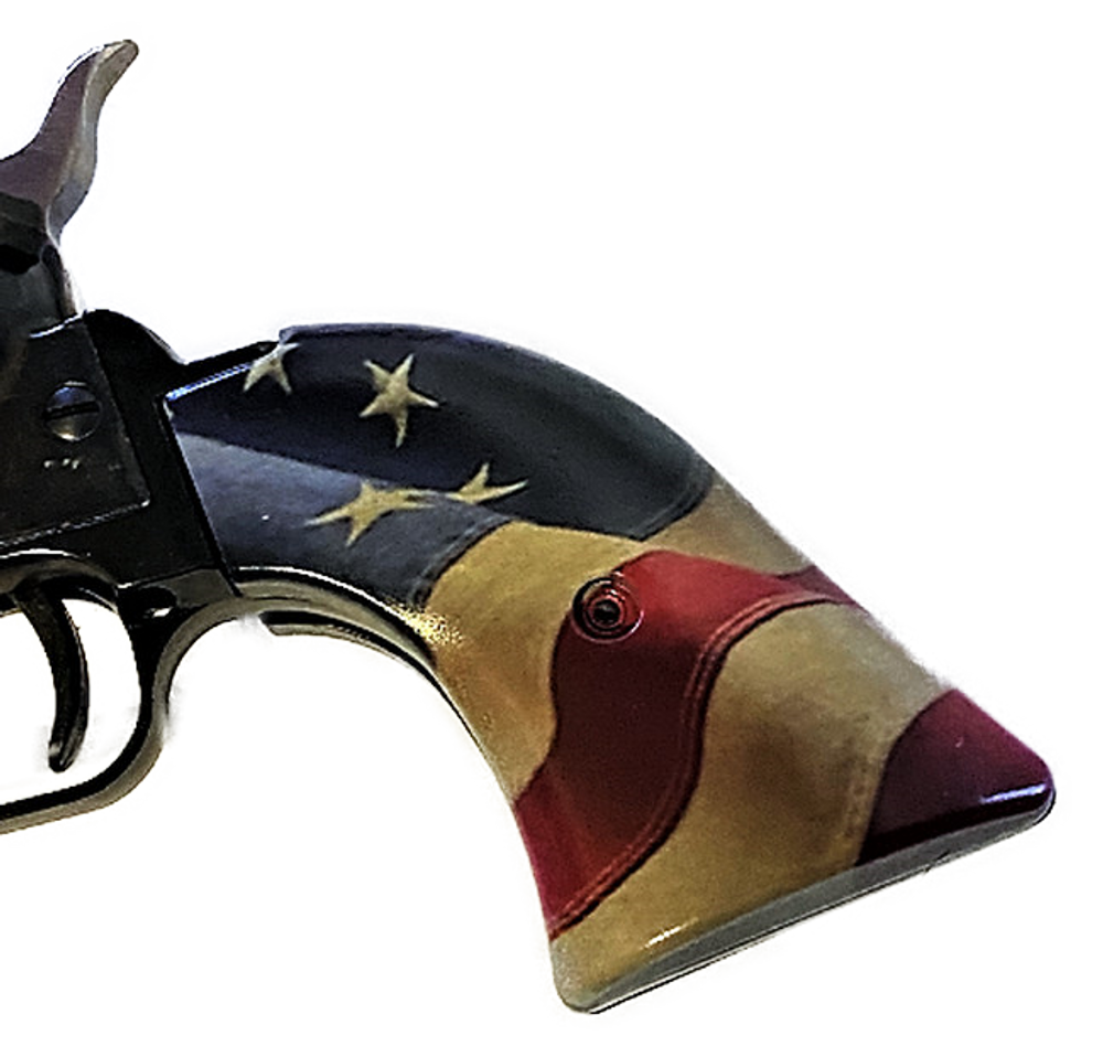 Fits Heritage Arms Rough Rider GRIPS .22 & .22 MAG Betsy Ross Flag HD/UV