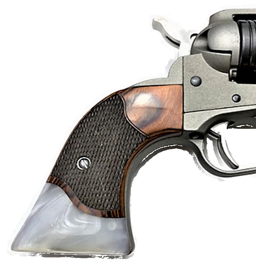"Ruger Wrangler GRIPS .22 model Rosewood White Pearl ""Gentleman"""
