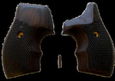 S&W J Frame Round Butt Half Wrap Around Rosewood Gun Grips