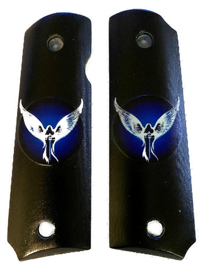 "1911 Gun Grips ""Guardian Angel"" UV printed from HD photo over acrylic"