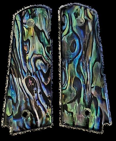 1911  Full size UV Grips w/ HD Puau Abalone  imaging