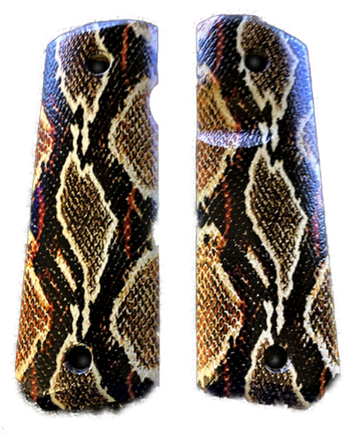 1911 G10 Full size UV printed grips w/ HD Rattle Snake  imaging