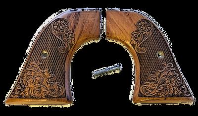 Ruger Carved Rosewood Grips - Wrangler Model - Gunslinger Tapered