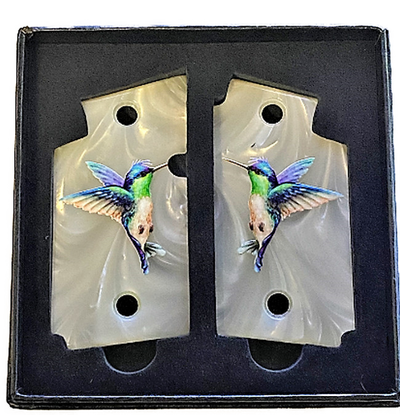 SIG SAUER P938 Acrylic Pearl Gun Grips with UV Printed Humming Bird