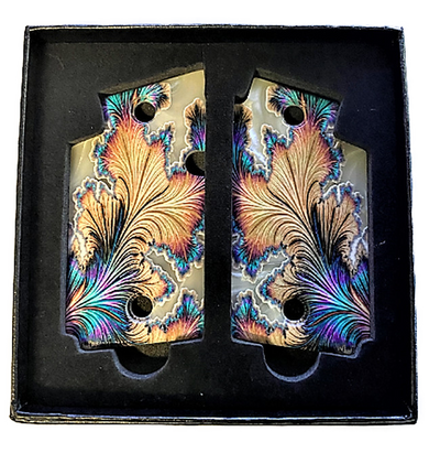 SIG SAUER P938 Acrylic Pearl Gun Grips with UV Printed Custom Floral Design