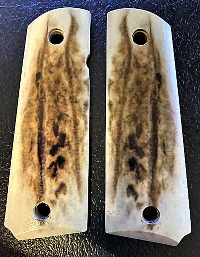 1911 Full Size Gun Grips UV printed from HD photo of Elk over wood