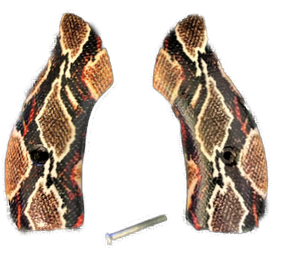 J Frame Grips fits most S&W round butts UV printed HD image of Rustic Rattle Snake