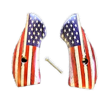 J Frame Grips fits most S&W round butts UV printed HD image of a Rustic American Flag