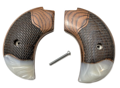 The Rosewood/Synthetic Pearl Bird's Head Version Heritage Arms Rough Rider 6 & 9 Shot Grips (.22 &.22 Mag)
