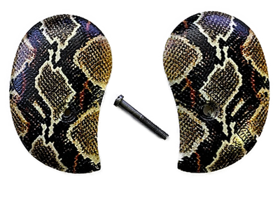HD Picture of Rattle Snake Skin UV printed over acrylic pearl grips Bond Arms Multi Model Derringer