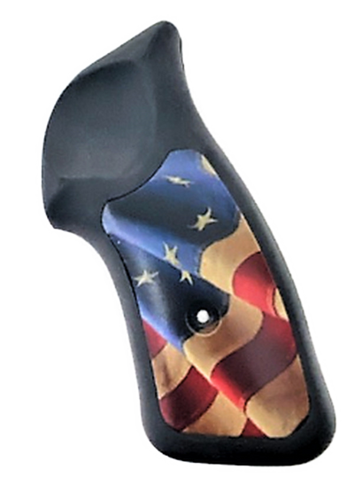 Ruger SP101 Pearl w/Betsy Ross Flag Grips Inserts