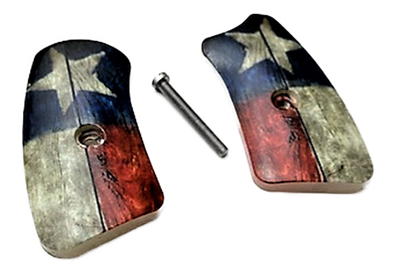 Ruger SP101 Pearl w/Texas Flag Grips Inserts