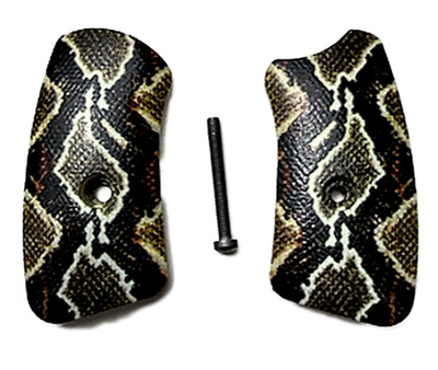 Ruger SP101 Pearl w/HD Picture of Rattle Snake UV Printed Grips Inserts