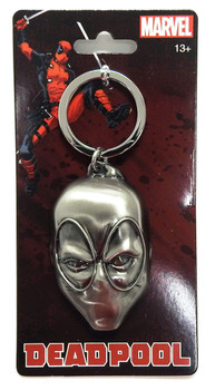 DEADPOOL HEAD PEWTER KEYRING
