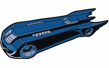 BATMAN ANIMATED SERIES BATMOBILE MAGNET