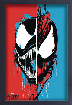 MARVEL HEROES VENOM SPLIT FACE 11X17 FRAMED PRINT