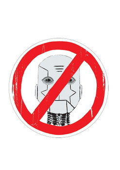 DESCENDER NO ROBOTS PIN