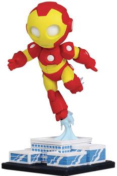 MARVEL MINI HEROES ANIMATED IRON-MAN PVC STATUE