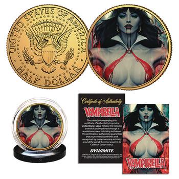VAMPIRELLA #2 STANLEY ARTGERM LAU COLL COIN