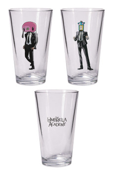 UMBRELLA ACADEMY HAZEL & CHA CHA PINT GLASS SET