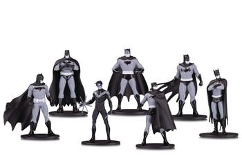 BATMAN BLACK & WHITE MINI PVC FIGURE 7 PACK SET 1
