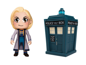 DOCTOR WHO TITANS 13TH DOCTOR & TARDIS 2 PACK SET