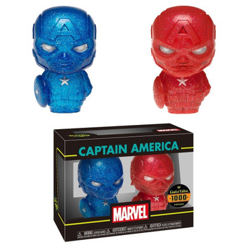 HIKARI XS MARVEL CAPTAIN AMERICA RED & BLUE FIGURE 2PK