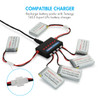 Combo: 6pcs of 3.7V 700mAh LiPo Battery Pack (Compatible with Syma X5, X5C, X5SC, X5SW and Cheerson CX-30W)