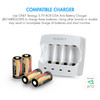 Rechargeable Batteries (12-Pack and Charger) Arlo Certified Li-ion 3.7V 650mAh Battery for Arlo Camera (VMC3030)