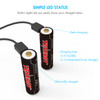 Tenergy T35B USB Rechargeable 18650 Li-Ion 3500mah Battery, 2-Pack