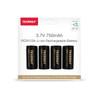 Premium High Capacity Rechargeable Batteries (4-Pack) Arlo Certified Li-ion 3.7V 750mAh