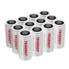 12-pack Tenergy Premium CR123A 3V Lithium Battery PTC protected