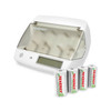 Combo:  4 Pack Centura NiMH Rechargeable C Batteries + Tenergy TN299 Universal Battery Charger