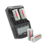 Combo:  4 Pack Centura NiMH Rechargeable C Batteries + Tenergy TN456 Intelligent Universal Battery Charger